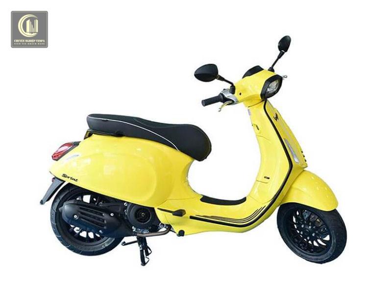 Sơn xe Vespa Sprint màu vàng chanh