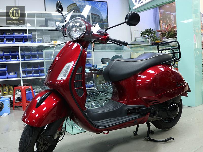 Sơn Xe Vespa GTS Đỏ Cherry